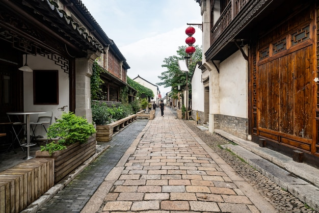 Streets in ancient chinese towns