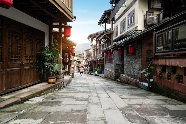 Улицы древнего города наньшань в чунцине