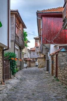 Улицы старого города несебр, болгария