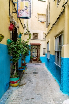 The streets of tangier. old town - medina.