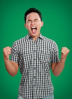 Stressed man shouting