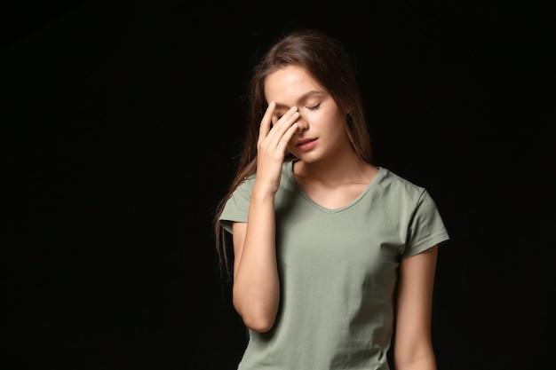 스트레스 젊은 여자