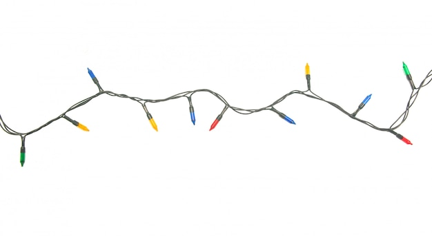 String of christmas lights isolated