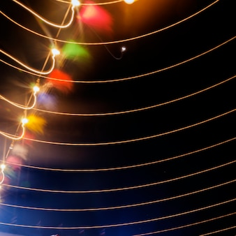 String light lines night festive