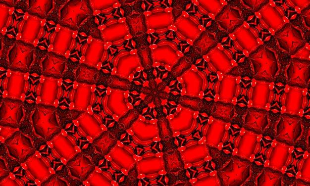 ストライプウェーブセパレーター。神秘的な幾何学的な装飾。継続的な魔法の壁紙。グルーヴィーな壁紙。アシッドスクエアルーン。赤い繰り返しブラシ。赤い幾何学模様。赤い幾何学的なインク。血の波状のバティック。