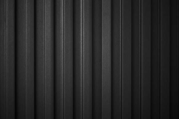Striped black wave steel metal sheet cargo container line industry wall texture pattern for background.