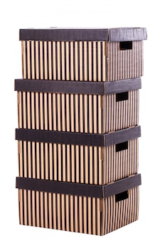 Striped boxes pile pile