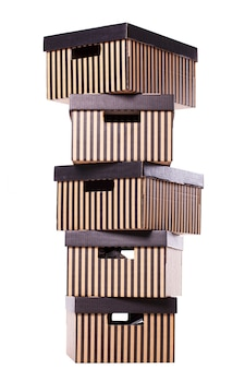 Striped boxes pile
