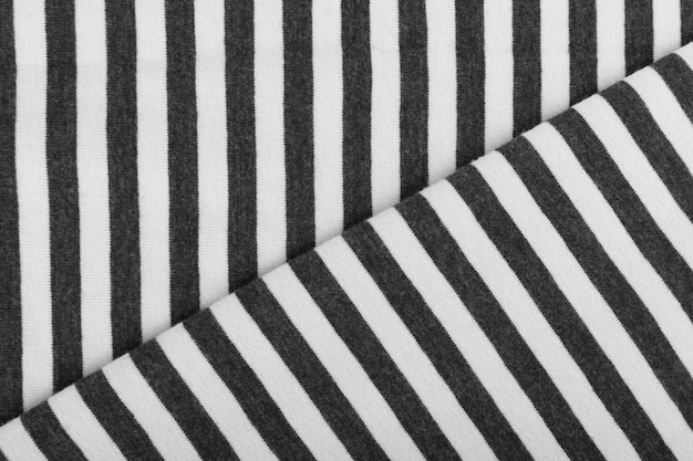 Striped cotton fabric background