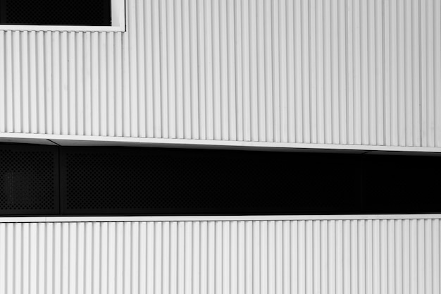 Striped facade of a modern building