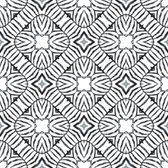 Striped hand drawn design. black and white stunning boho chic summer design. repeating striped hand drawn border. textile ready fabulous print, swimwear fabric, wallpaper, wrapping.