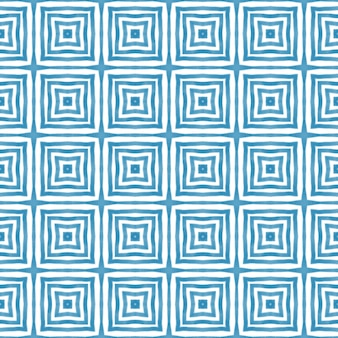 Полосатый узор рисованной. синий симметричный фон калейдоскопа. текстиль готов, невероятный принт, ткань для купальников, обои, упаковка. повторяя полосатый рисованной плитки.