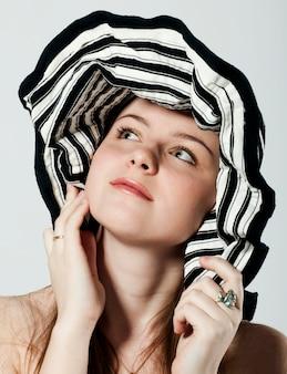 줄무늬 모자