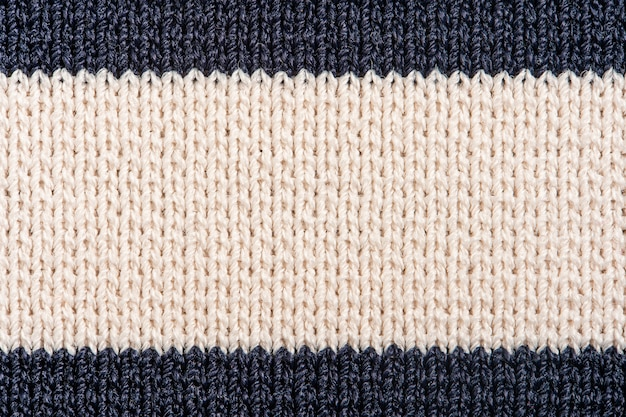 Striped knit fabric texture