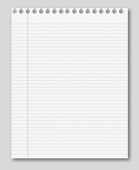 Striped paper note