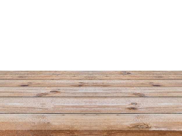 Striped wooden brown on white background. montage your product