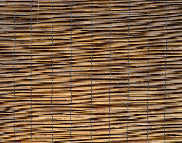 Striped woven bamboo background