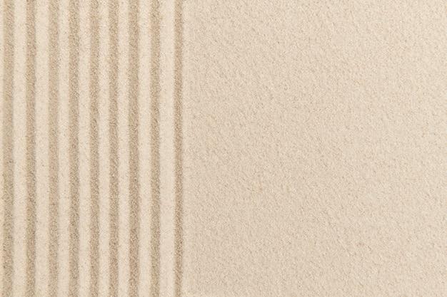 Полосатый фон из песка дзэн в концепции здоровья и благополучия