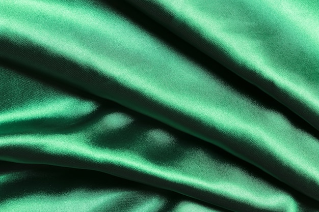 Stripes of green fabric material