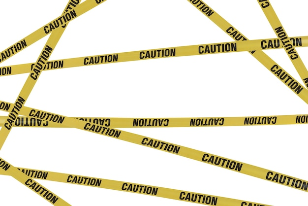 Strips of caution create barrier to dangers