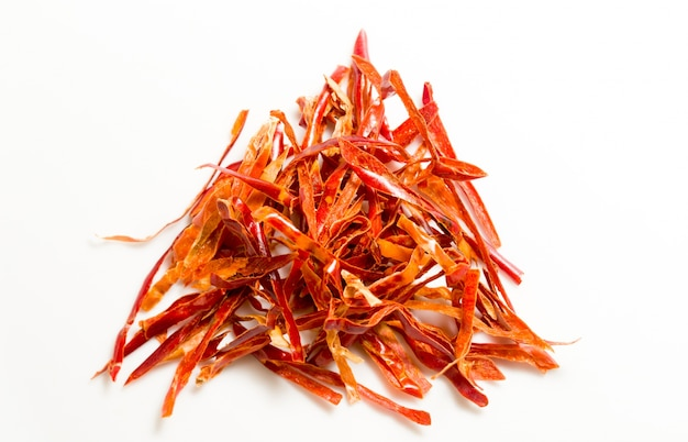 Strips of spicy chili