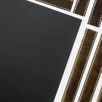 Strips of unrolled film