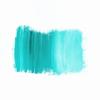 Stroke of bright turquoise paint