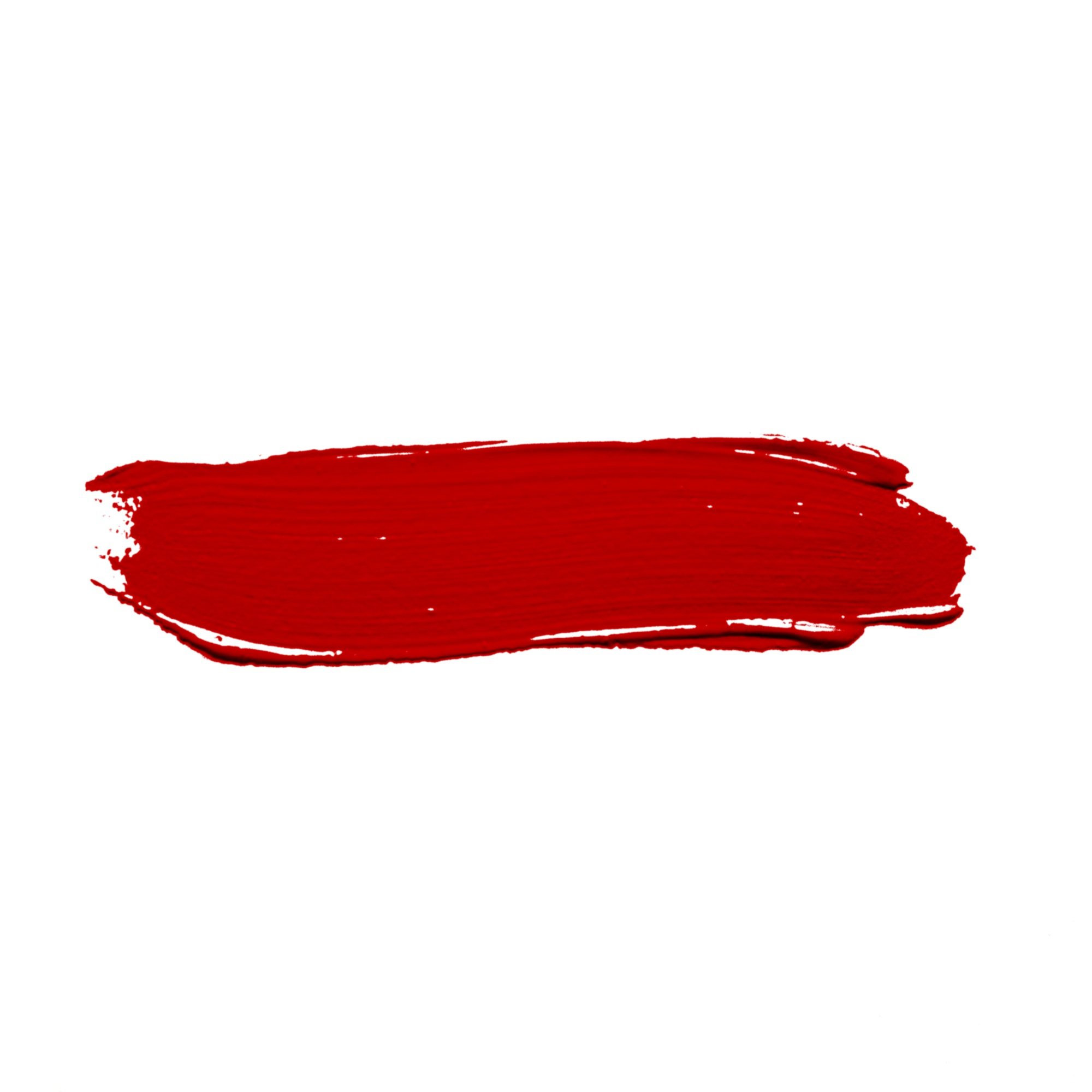 Stroke of bright red paint
