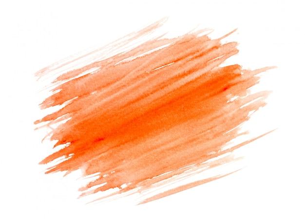 ストロークオレンジ水彩画。