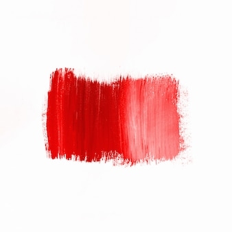 Stroke of red paint