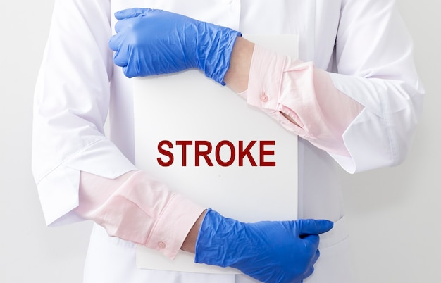 뇌졸중 단어, 비문 심장 마비, 질병, 의료