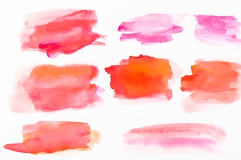 Strokes of red watercolor