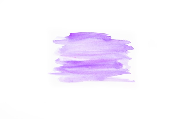 Strokes of purple watercolor