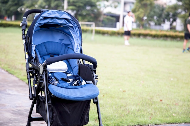 Stroller carriage for baby in the garden