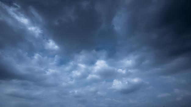 Strom & rainy cloud sky