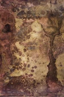 금속 표면의 강한 부식. 녹슨 구리 질감입니다. 추상적 인 이미지. 배경. 주형.