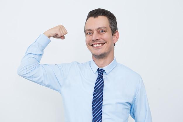 Сильный предприниматель, строящий успешный бизнес
