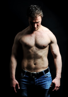 Strong man with a healthy body