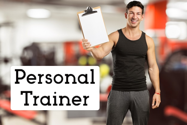 Strong personal trainer