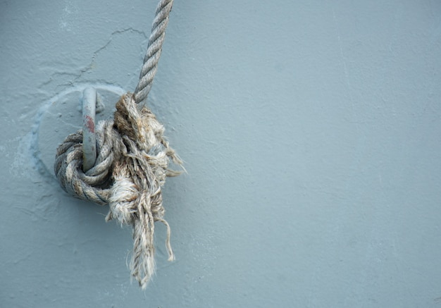 Strong rope for bonding on a navy ship.