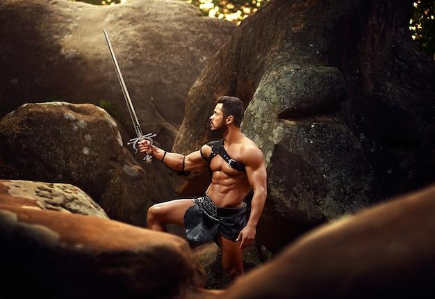 森の中で強い戦士