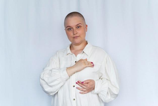乳がんと闘う強い女性