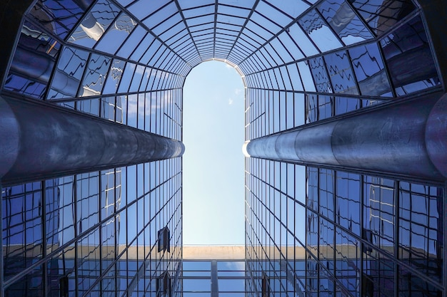Structural glass facade of a fantastic office building