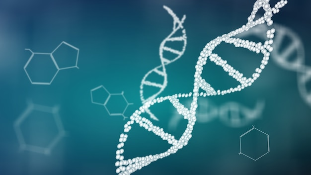 Structure of the dna double helix animation, dna molecular and biologigical concept