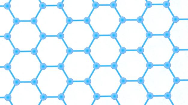 ナノテクノロジーの構造未来のナノテクノロジー抽象的な背景ナノテクノロジー