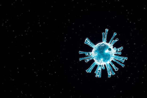 바이러스 세포의 구조, 바이러스 확산 개념, 3d 렌더링