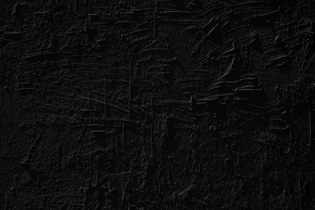 Stucco black wall of an old house