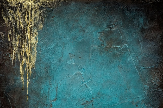 スタッコの表面の背景。青い漆喰壁。グランジスクラッチコンクリートパネル