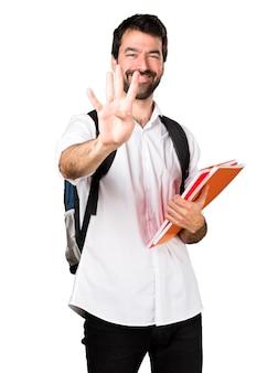 Студент, считающий четыре