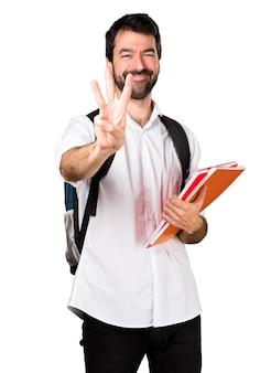 Студент, считающий три